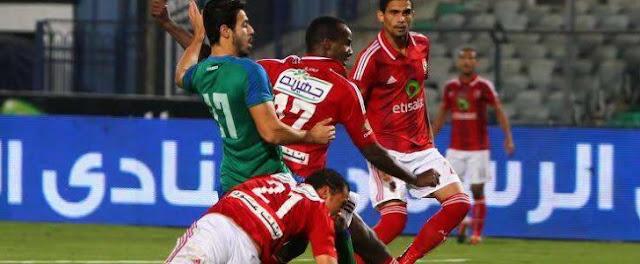 موعد مباراة الأهلي ومصر المقاصة   القنوات الناقلة لمباراة الأهلي ومصر المقاصة