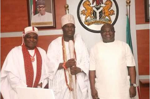 Ooni-of-Ife-visits-abia-governor-Okezie-Ikpeazu