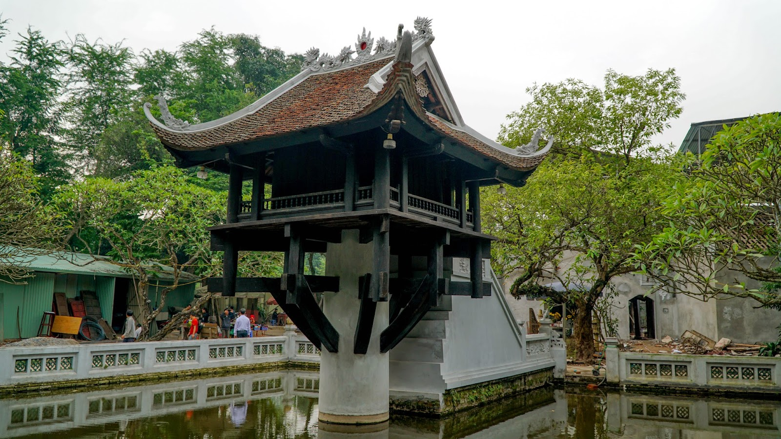 One Pillar Pagoda is located just around the corner from where Ba Dinh square is