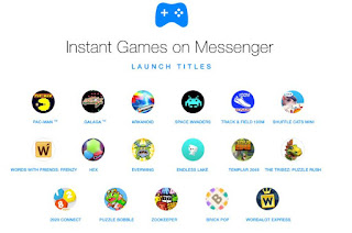 Pacman e Invaders in Facebook Messenger