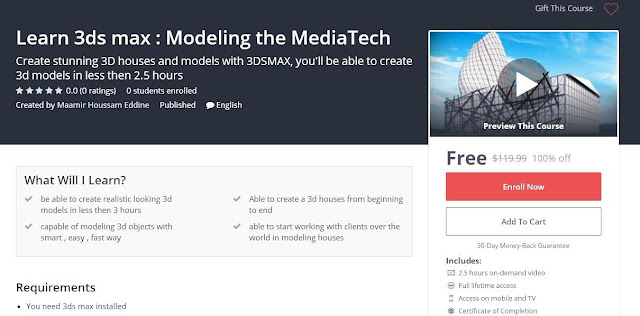 Learn 3ds max : Modeling the MediaTech