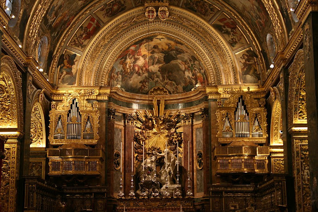 The High Baroque altar of Saint John's Co-Cathedral_psartworks.in