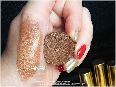 DANAE   swatches eyeshadow ombretto  goldust collection Nabla cosmetics