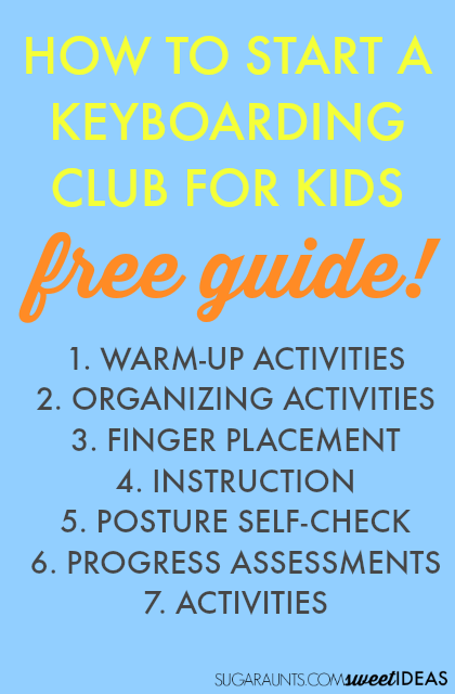 How to Implement a Keyboarding club for kids