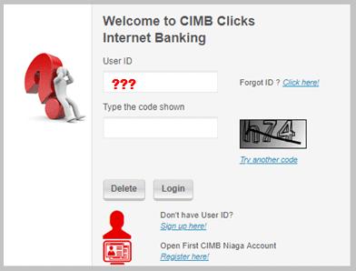 Lupa user id cimb cliks