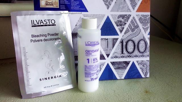 Ilvasto Bleaching Powder dan L'OREAL Oxydant Creme