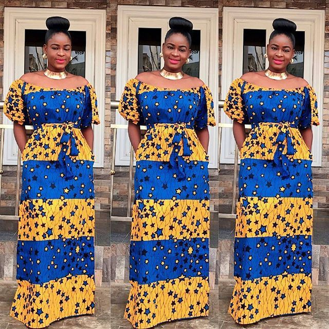 Slayed Ankara Long Gown Od9jastyles