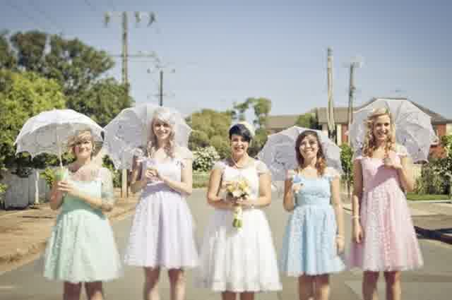 Vintage Chic Bridesmaid Dresses