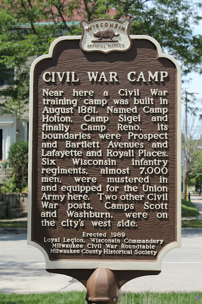 Wisconsin Historical Markers Marker 288 Civil War Camp