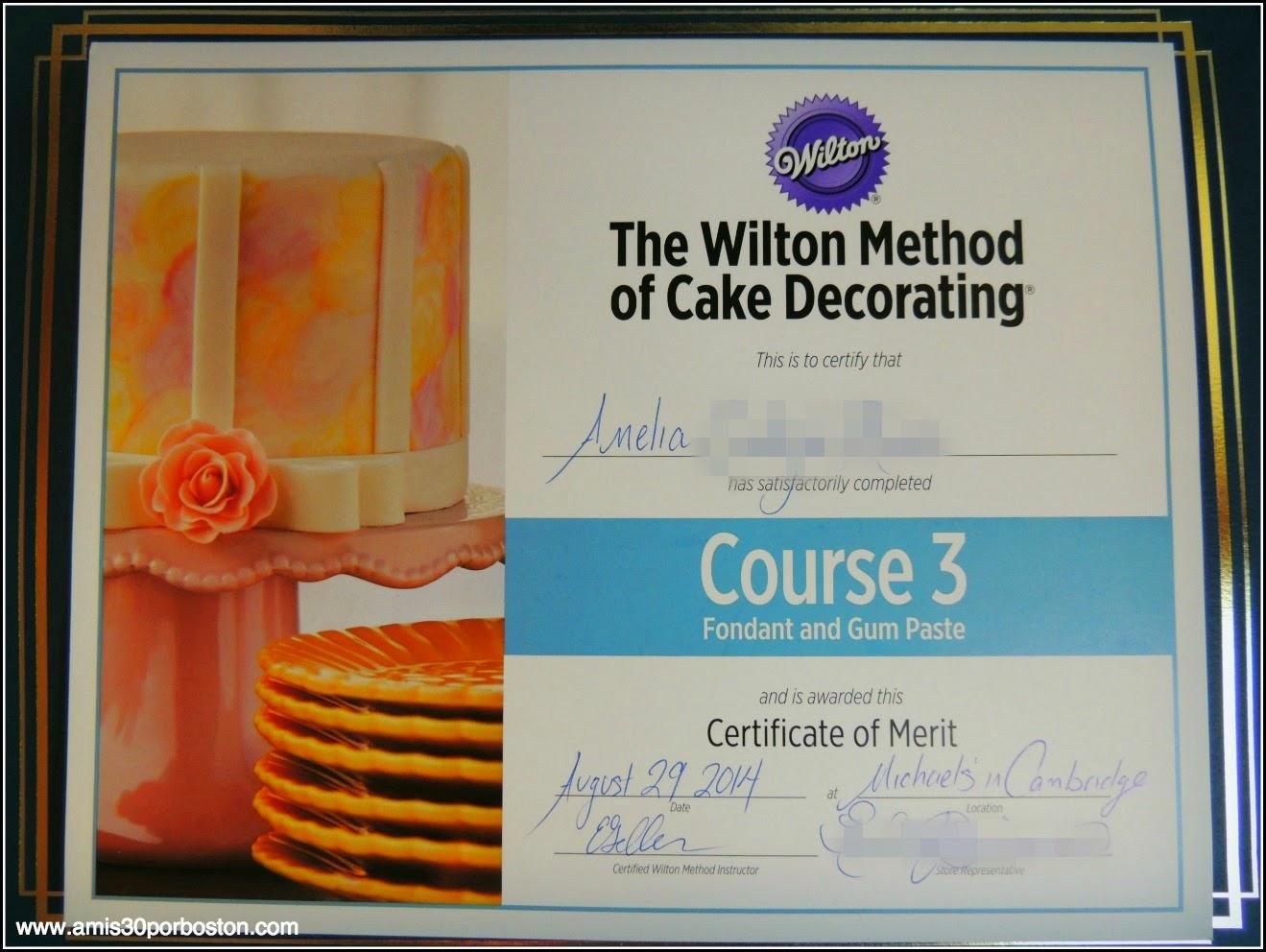 Curso 2 de Decoración Wilton: Pasta de Goma y Fondant