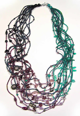 Robin Atkins, beaded multiple strand necklace