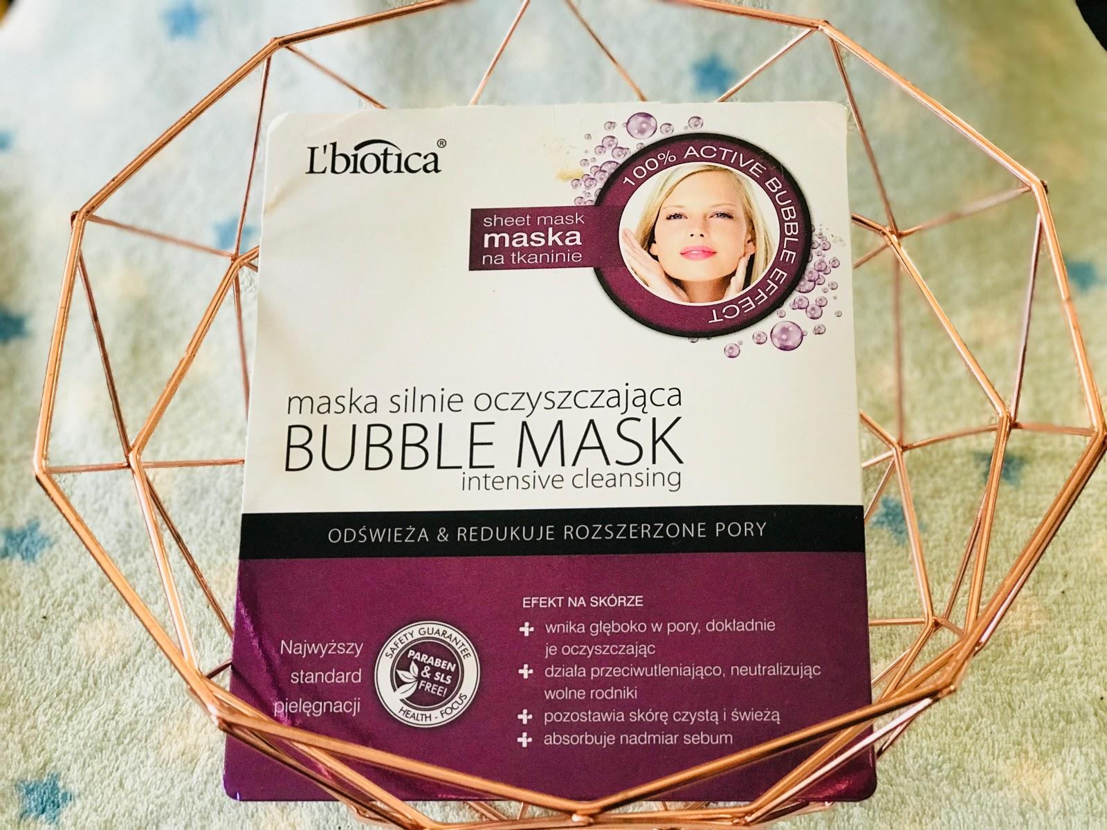 L'biotica maska silnie oczyszczająca BUBBLE MASK