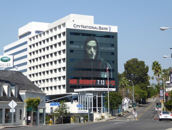 Giant Mr Robot season 2 billboard