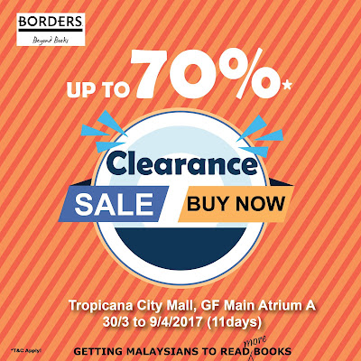 BORDERS Malaysia Clearance Sale Discount Promo