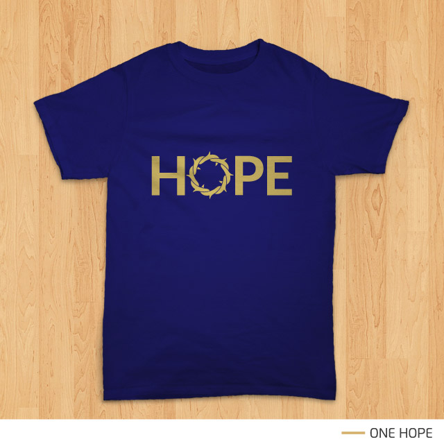 Pratinjau desain kaos rohani 'One Hope' - by Teesalonika