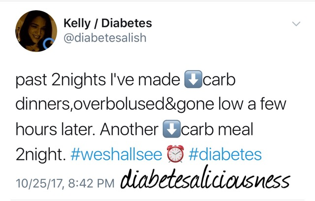 Embracing Low Carb Dinners - And Trying Not To Over Bolus