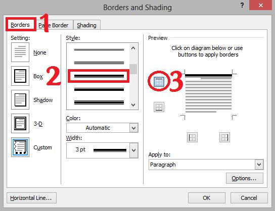 Cara Membuat Garis KOP Surat di Microsoft Word   Espada Blog