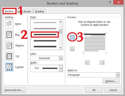 Cara Membuat Garis KOP Surat di Microsoft Word 20