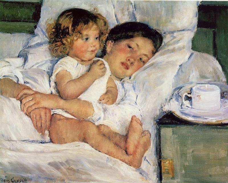 Café da Manhã na Cama - Pinturas de Mary Cassatt | Mulheres na pintura