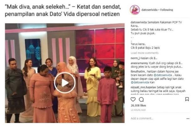 Cik B Dikritik Selekeh, Ini Luahan Dato Vida