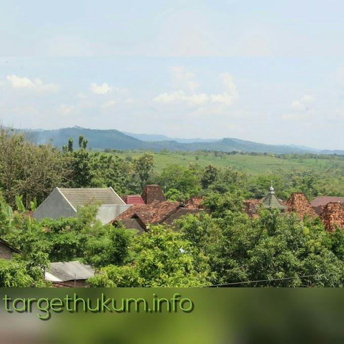 Keindahan Desa Godo Dilihat Dari Puncak Kubah Masjid Baitussalam Kecamatan Winong Kidul PATI