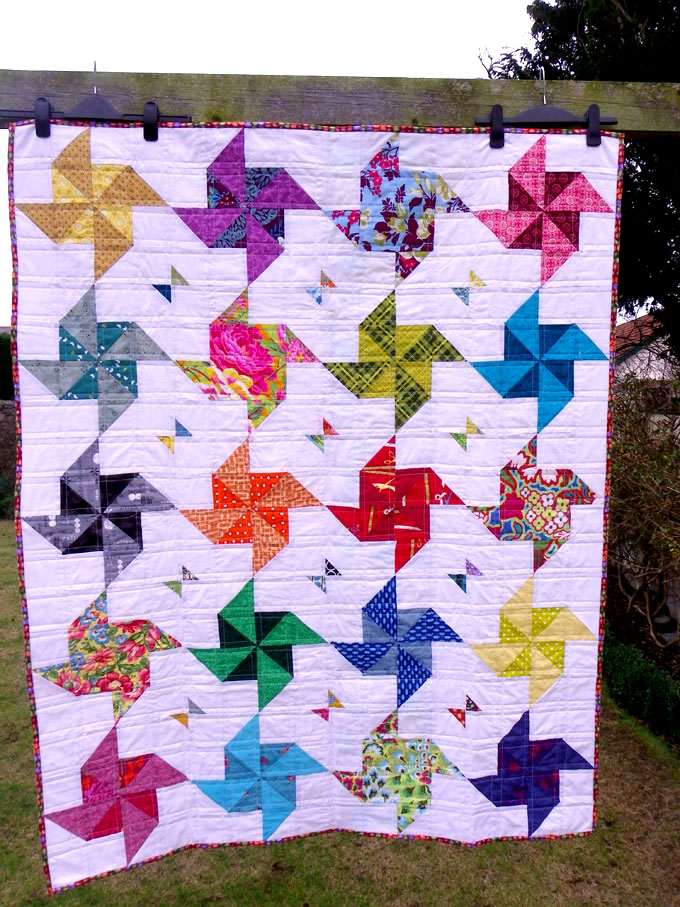 Little Island Quilting A Pinwheel Half Square Triangle Quilt