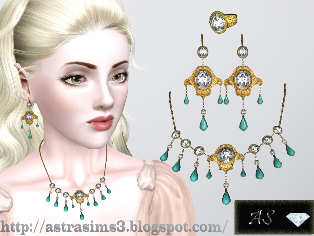 sims 3 earrings my sims 3 rococo jewelry set by astra 9739