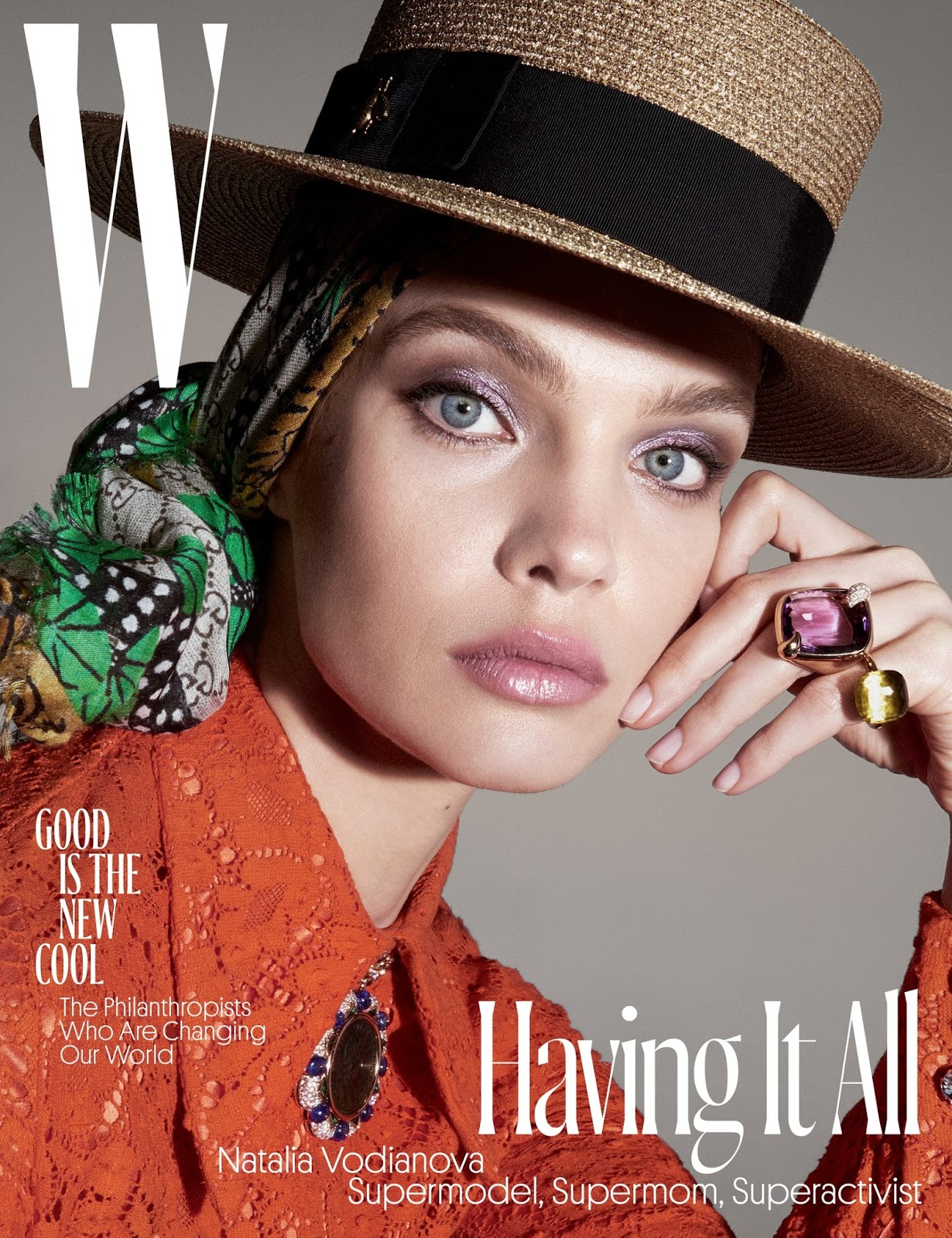 Natalia Vodianova styled by Edward Enninful and photographed by Steven Meisel for W magazine, June/July 2017