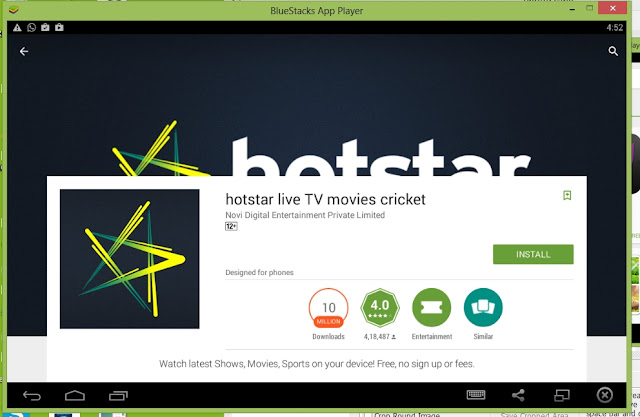 Image result for hotstar download with bluestack