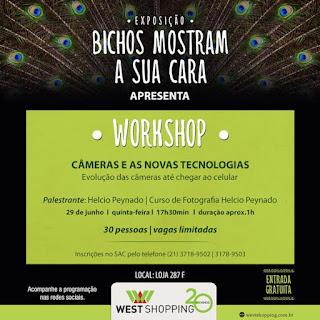 West Shopping realiza workshop gratuito 'Câmeras e as Novas Tecnologias'
