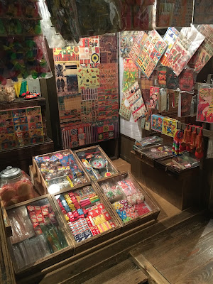 A colourful Dagashiya neighbourhood sweet and toy store in the museum