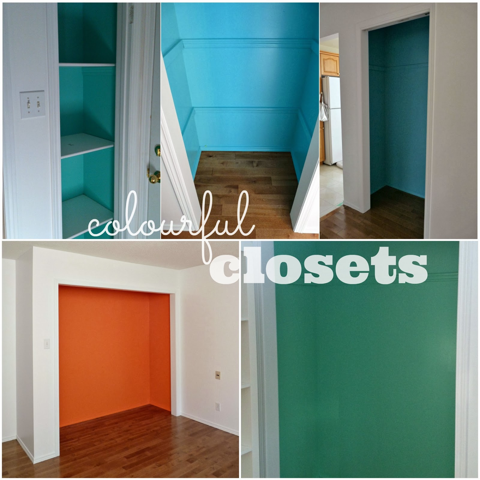 Colourful closets