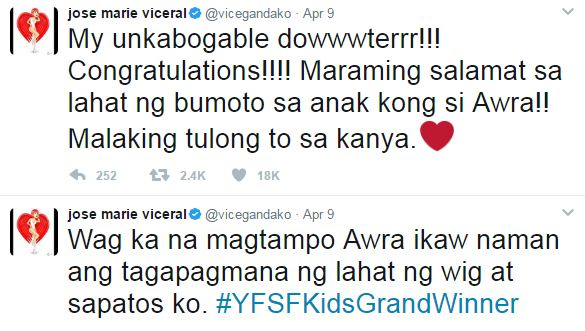 Awra Briguela Said He's Dissapointed with Vice, Why?