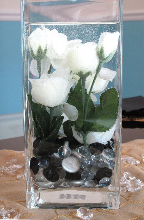elegant rose centerpiece