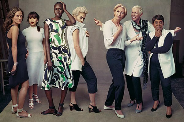 Rita Ora, Emma Thompson and Annie Lennox in advertising fashion brand
