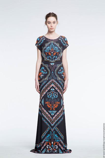 Moda verano 2017 vestidos largos de noche o fiesta Natalia Antolin.