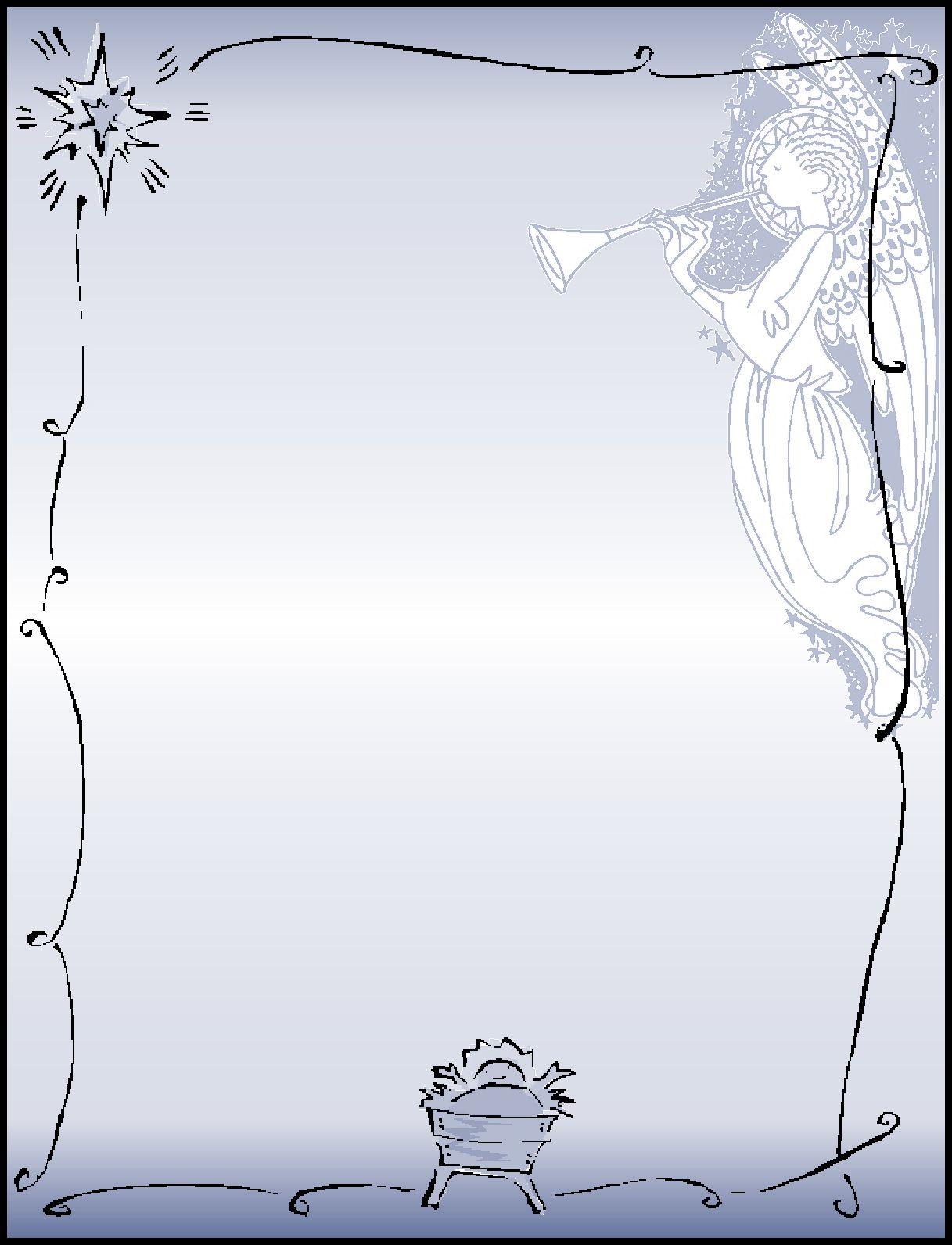 manger scene borders and backgrounds