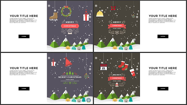 Animated Christmas Free PowerPoint Template Slide 9-12