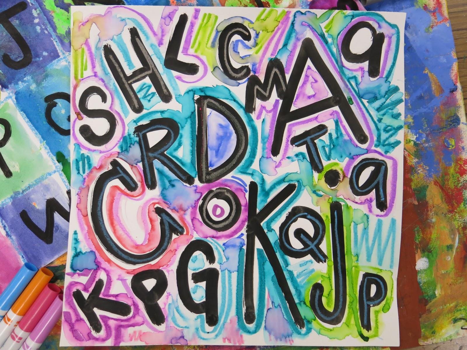 Cassie Stephens: kindergarten art
