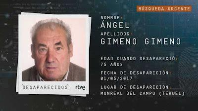 Ángel Gimeno Gimeno, desaparecido
