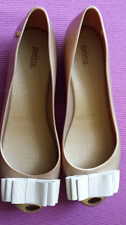 Melissa Ultra Gold ribbon flats