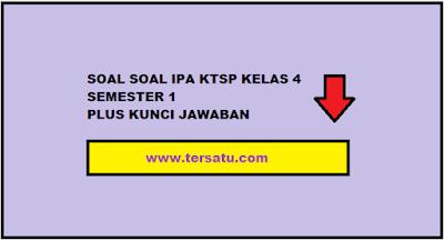 Download Kumpulan Soal IPA KTSP Kelas 4 Semester 1 Plus Jawaban gratis siap download