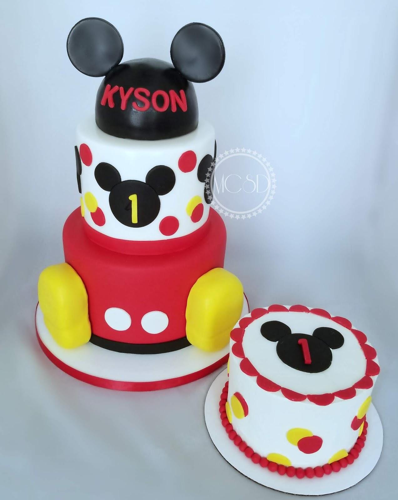 Awe Inspiring Cakesbyzana Mickey Mouse 1St Birthday Cake Personalised Birthday Cards Akebfashionlily Jamesorg