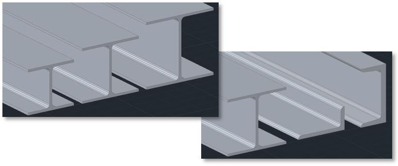 perfil estructural con AutoCAD Plant 3D