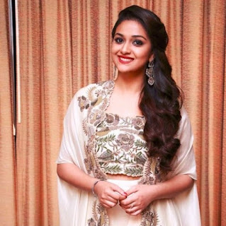 Keerthy Suresh in white Dress with Cute Smile in Saamy Square Audio Launch 1