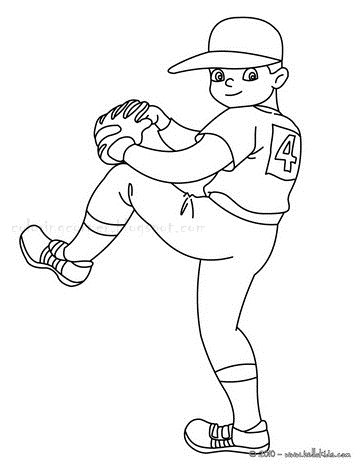 coloring pages baseball player - photo#17