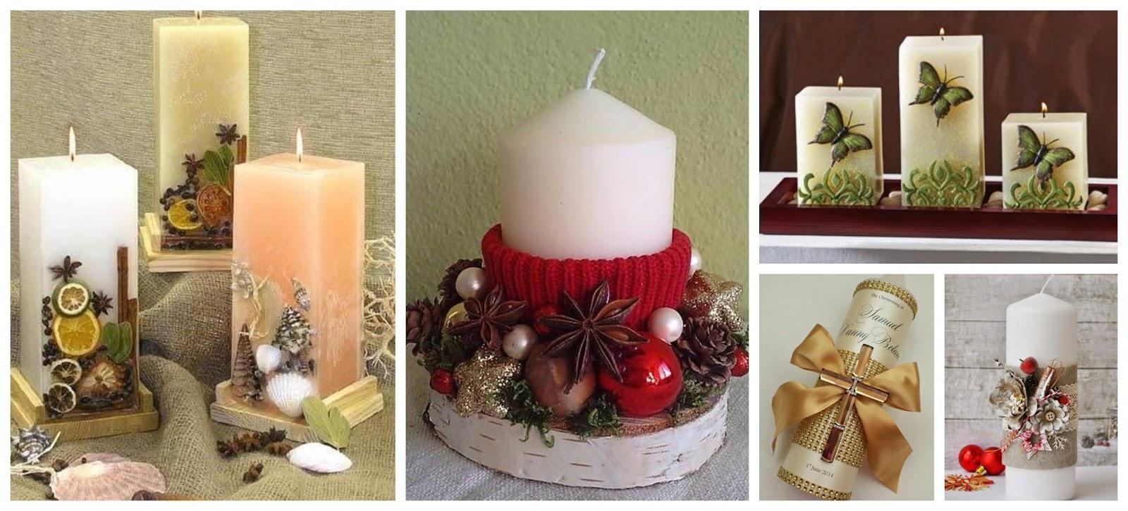 20 Hermosas Ideas De Como Decorar Velas Para Toda Ocasion Haz - Como-decorar-una-vela