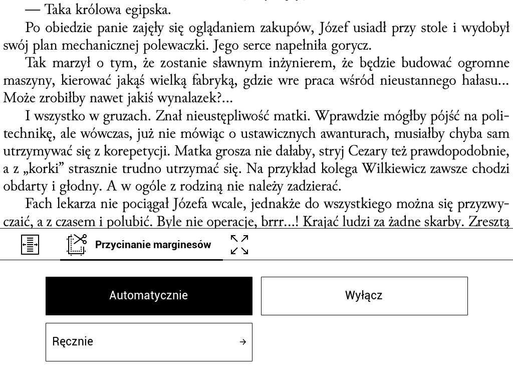PocketBook Aqua 2 – plik PDF po automatycznym przycięciu marginesów