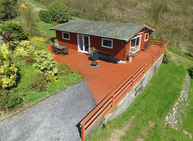 Hardwood timber deck, Wales, Aberdyfi