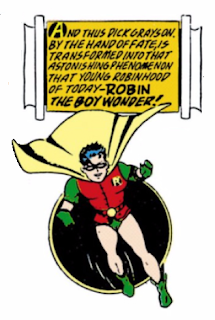 Detective Comics (1937) #38 Page 3 Panel 9: The announcement of Dick Grayson's new identity as Robin.